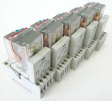 5x ABB CR-U110DC2L Interface-Relais Steckrelais 110VDC 240VAC 10A CR-U21 CR-U2S