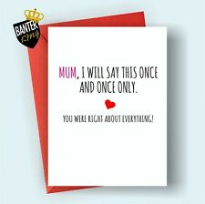 M4 HAPPY BIRTHDAY GREETINGS CARD MUM RUDE FUNNY CHEEKY LOVE MOTHERS DAY SORRY