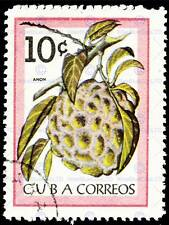 FRANCOBOLLO 10 dieci CENTAVO Anon pianta di zucchero Apple POST ART PRINT cc1606
