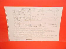 1963 CHRYSLER NEW YORKER 300J NEWPORT CONVERTIBLE COUPE FRAME DIMENSION CHART