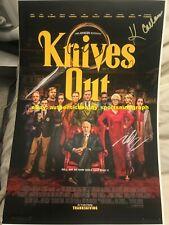 KNIVES OUT DANIEL CRAIG ANA DE ARMAS CHRIS EVANS JOHNSON SIGNED 12x18 REPRINT RP