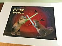 Star Wars Inspired PAW WARS POSTER Scholastic Squirrel Lightsaber Duel fun 24x18