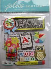 JOLEE'S BOUTIQUE TEACHER School Student Scrapbook Craft Stickers Embellishment