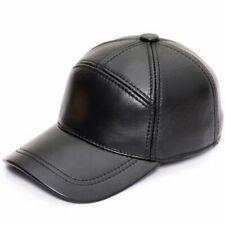 Men's 100% Genuine Cowhide Leather Baseball Cap Outdoor Casual Visor Hat Fashion