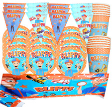 BLIPPI CUPCAKE CAKE TOPPER party balloon decoration supplies CUP PLATE TABLE