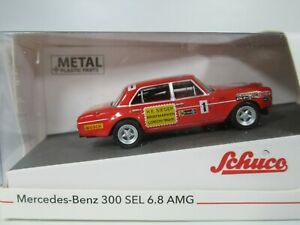 SCHUCO, 1:87 Scale MERCEDES-BENZ 300 SEL 6,8 AMG 1, CLASSIC RACE CAR 45 264 9500