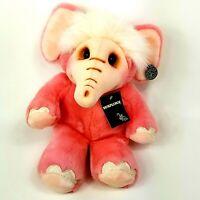 Vintage Polar Puff 24K Dumplings Trunksley Plush Pink Elephant Stuffed Animal