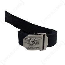 US Navy Seal ceinture-Noir Militaire américain en Toile Boucle combat Réglable Nouveau