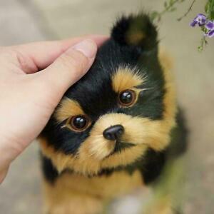 Realistic Dog Toys Plush Pomeranian Toy Doll Stuffed Gifts Kids 2020 Animal I1Z4