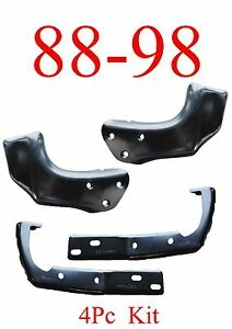 88 98 Chevy GMC 4Pc Bumper Braces & Brackets, L&R Included, Fits Gas & Diesel!