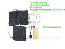 DIY heating system for battery heated jacket /skating/motorcycling/sports