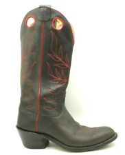 Olathe Deep Gray Red Leather Tall Top Cowboy Western Boots Shoes Men's 9 D