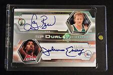 2005 UD SP Authentic Larry Bird/Julius Erving Dual Autograph Card #23/25 Nice!