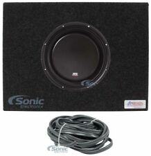 "MTX 3510-04S 10"" 600W Shallow Car Audio Subwoofer+Sealed Sub Box Slim Enclosure"