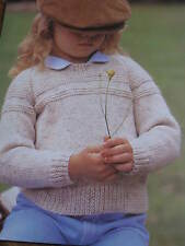 child knitting pattern  jumper  3 -12 years 8 ply