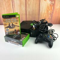 Original Xbox Black Console Bundle Lot Cords Controller 5 Games Tested Working