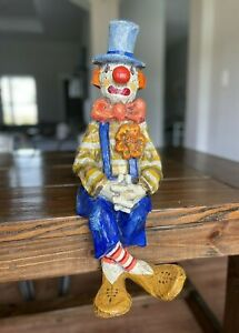 Jeanne Valentine Vintage Numbered Paper Mache Clown Made In Mexico