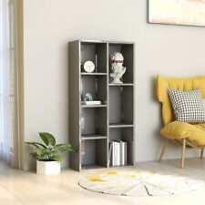 vidaXL Book Cabinet High Gloss Grey 50x25x106 Cm Chipboard