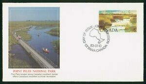 Mayfairstamps Canada FDC 1983 Point Pelee Natl Park Bridge First Day Cover wwp_5
