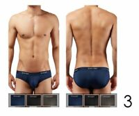 2xist Men's 3 Pack Micro Speed Dri No-Show Briefs in Black, Charcoal, Navy