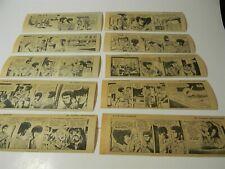 Vintage Aug 1971 Dateline Danger Newspaper Comic Strip Lot of 10 1970s 5B
