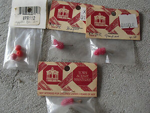 Lot of 4 Dollhouse Accessories - Town Square Miniatures Grapes and Apples NIP