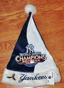 NY New York Yankees Holiday Santa Hat 2009 World Series CHAMPS! Champions