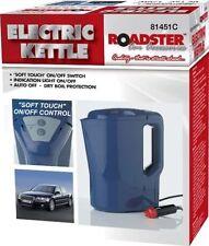 12V ELECTRIC KETTLE PORTABLE CAR VAN LORRY CIG LIGHTER 1LTR PLUG IN MOTOR BLUE