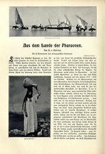 H.v.Gehlen Ägypten Aus dem Lande der Pharaonen El Kantara Kairo Giseh Karnak1904
