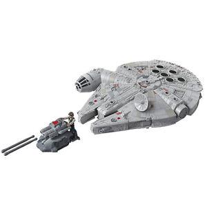 Star Wars Vaisseau Deluxe Faucon Millenium et figurine Han Solo Jouet Star Wars