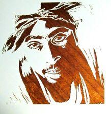 2Pac Tupac Shakur Stencil/Template Reusable 10 mil Mylar