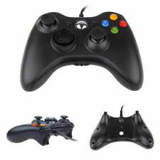 Neu Verkabelt Schwarz XBOX 360 Controller USB Joypad für PC Windows Gamepad Play