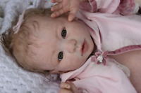"For 22"" Reborn Baby Doll Unpainted Vinyl Kits DIY Mold Head+Limbs Handmade Toy"