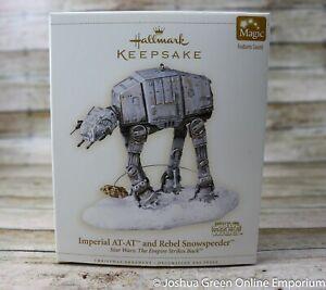 2006 Imperial AT-AT And Rebel Snowspeeder Star Wars Hallmark Keepsake Ornament