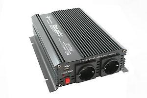 Spannungswandler Wechselrichter 1500 3000 Watt 12V 230V Softstart CE E8 NEU OVP