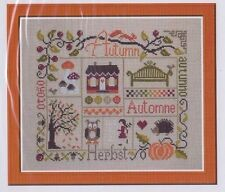 Sampler Automne (autumn) - patchwork style cross stitch chart - Jardin Prive
