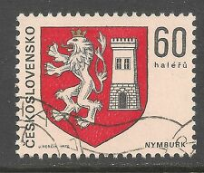 Czechoslovakia #2000 (A590) VF USED - 1975 60h Arms Of City Of Nymburk