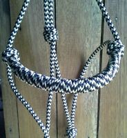 Standard Rope Halter -Rolled Noseband by Natural Equipment LOTS OF COLOURS