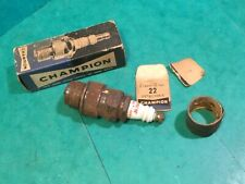 "Vintage spark plug,original classic car Champion detachable 22 5/8""reach ,15/16"""