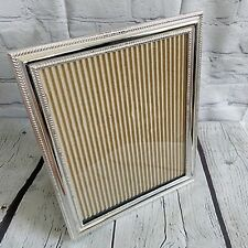 Silver Plated Deco 8x10 Picture Frame Rustic Photo Frame Home Décor Accent