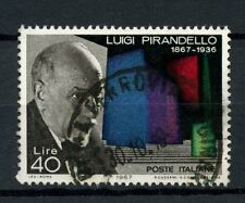 ITALIA 1967 SG # 1185 LUIGI PIRANDELLO USATO #A 40307