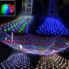 3x2M/6x4M LED Net Fairy Lights Garden Mesh Curtain Christmas Tree Party Decor UK