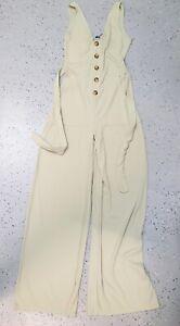 💜 BOOHOO Summer Wide-Led Jumpsuit Pistachio Size 10 Buy7=FreePost L865