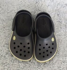 Crocs Kids Crocband Clog Slip On Water Shoe Navy Citrus, Size 7 Toddler Baby