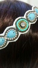 Turquoise Beaded Crystal Headband Women Girl Hair Accessories India Z9-13/22