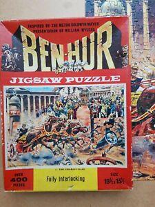 VINTAGE BEN HUR 400 PIECE JIGSAW PUZZLE-#1 The Chariot Race - COMPLETE