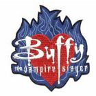 Buffy The Vampire Slayer Name On Heart In Flames Logo Embroidered Patch UNUSED