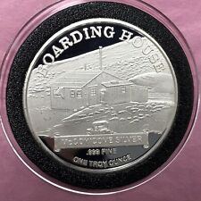 1996 Echo Bay Boarding House 1 Troy Oz .999 Fine Silver Rare Round Proof Coin