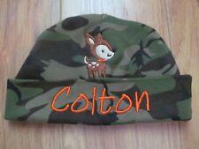 PERSONALIZED MONOGRAM CUSTOM Camo Deer Baby Beanie Hospital Hat Shower Gift!