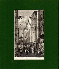 Antique Gravure sur bois-Champ Lane, environ 1840-Cassell 's Old & New London (1880)